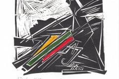 Inga Smitiene, Exlibris Arunas Jarmalavicius 1973-2008, 16/16 cm, X3, 2018