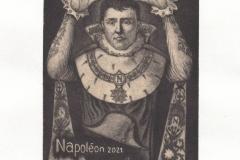 Michele Stragliati, Exlibris Association forMontefiascone ''Napoleon 2021'', C7, 17.8x12.5 cm, 2020