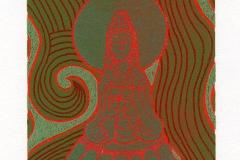"""Yoshinari Suehiro,  Exlibris Y. Suehiro """"Buddha Statue of Horyu II"""", 2012, S2"""