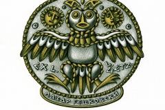 "Maya Tcholakova, Exlibris Lazr Getzovski ""Owl"""