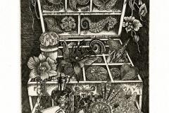 "Marina Terauds, Exlibris Shin- Jung Lin ""Collector's cabinet"", 2013, C3"
