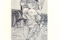 "Maria Maddalena Tuccelli, Exlibris Jan Wens ""Eroticism exotic"", 8.3/11 cm, C2, bulino, 2017"