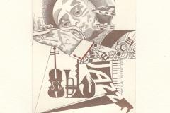 "Maria Maddalena Tuccelli, ExlibrisMiroslav Petrik ""Jazz - Miles davis"", 9/11.5cm, C2, bulino, 2017"
