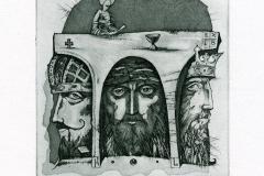 Aleksandr Ulybin,  Exlibris The tree Kings