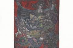Vladimir Vereschagin, Exlibris Hugo Viaene ''Magic flute'', C3, C7, col., 14.9x12.7 cm, 2021