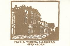 "Gianni Verna, Exlibris Maria Taresa D'asburgo ""Biblioteca Braidense"", 13.5/13.5 cm, X1, 2017"