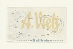 Andreas Vietz, Exlibris A. Vietz ''X'', C, C4, X, 17.5/10 cm, 2021