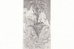 Hai heng Wang, Exlibris Jordan Petkov ''Don Quixote'', C3, C5, 15x6 cm, 2020
