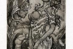 "Ruslan Agirba, ""Eros and Psyche"",  14,7/12,7 cm,  2014, C3, C5, C7"