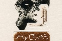 Plamenko Cengic, Exlibris Mycenae, 2014, mixed media