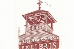 Fabio Dotta, Exlibris ''Trakai History Museum'', 13/10 cm, C3, 2018