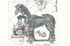 "Gunter Hujber, ""Trojan Horse"", 2016, 14.5/ 11.5 cm, C2, C4"