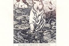 "Marina Kupkina, Exlibris Christos Giannakos ""Phardra"", 15/9.2 cm, C7, 2018"