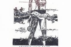 "Marina Kupkina, Exlibris Josef Burch - ""Vanitas"", 2015, 14.2/ 9.5 cm, C3"