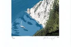 "Martin Manojlin, Exlibris Alois Sassmann ""The bay"""