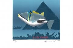 "Martin Manojlin, Exlibris Eliska Rybickova ""Egyptian fish"""