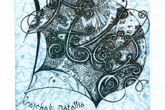 Alena Semchyshyn, Exlibris Krajchak Natallia, 2013, X3