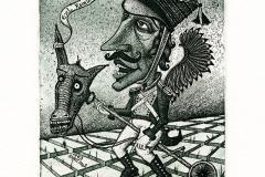 "Kirill Skachkov, Exlibris Ramunas Sedukis ""Horse man"", 2013, C3, C4, C5"