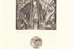 "Vera Stanishevskaja, Exlibris D. Frolov ""Noah"""